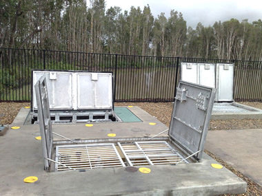 Aluminium access covers, metal fabrication on the Sunshine Coast, Queensland.